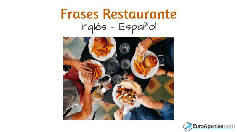 Aprende Inglés Frases Restaurante
