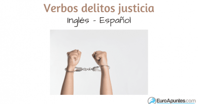 Aprende inglés verbos delitos justicia